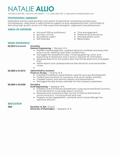 Secretary Job Description Resume Best Resume Gallery