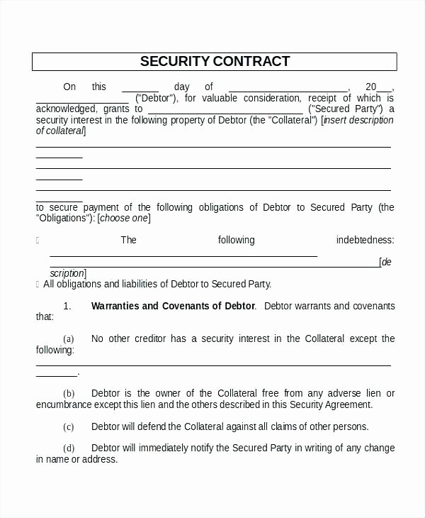 Security Agreement Template – Tatilvillam