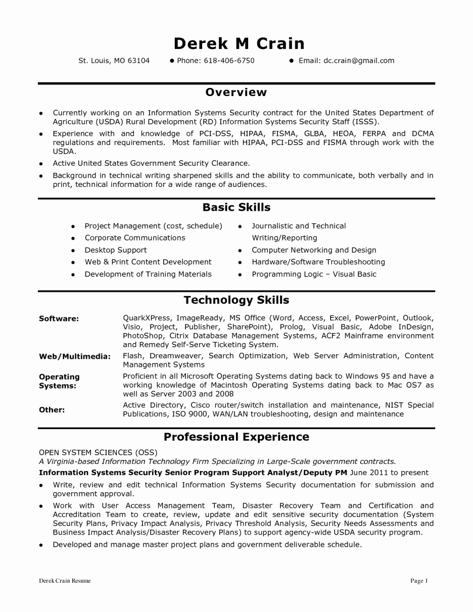 Security Analyst Resume