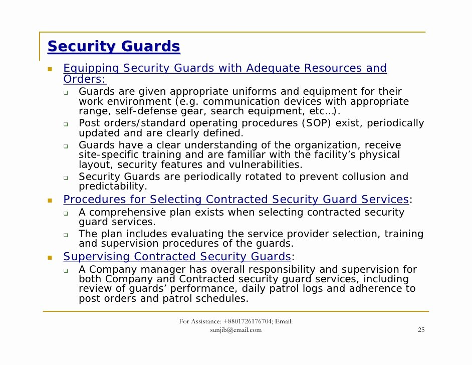 Security Guard Contract Template