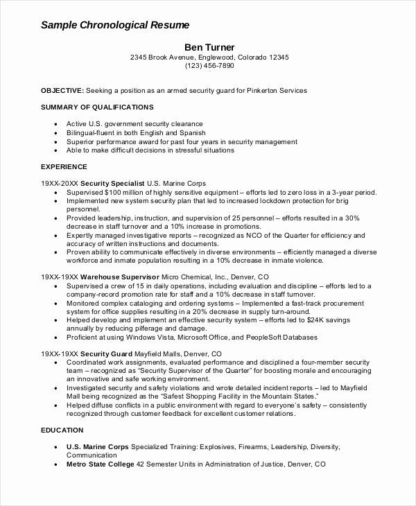 Security Guard Resume Example Luxury Security Guard Cv