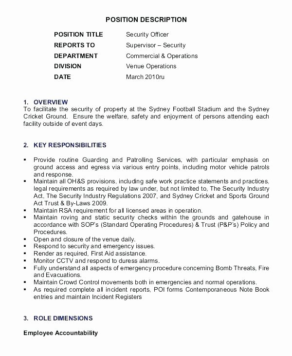 Security Guard Resume – Mkmafo