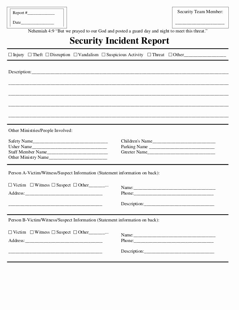 Security Incident Report