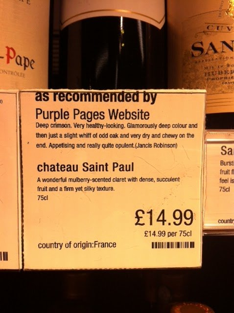 Sediment A Little Knowledge – Chateau Saint Paul 2010