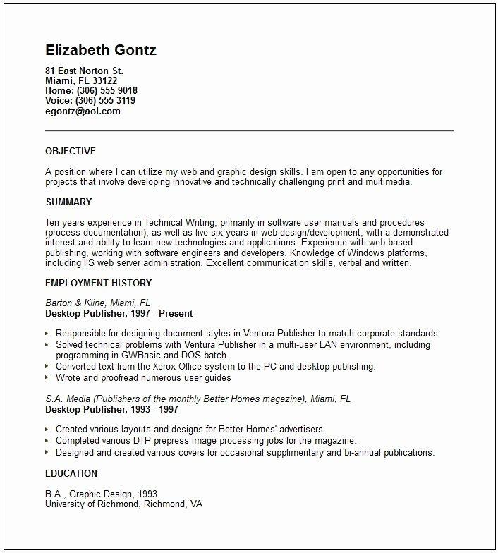 Self Employed Resume Template Umecareer