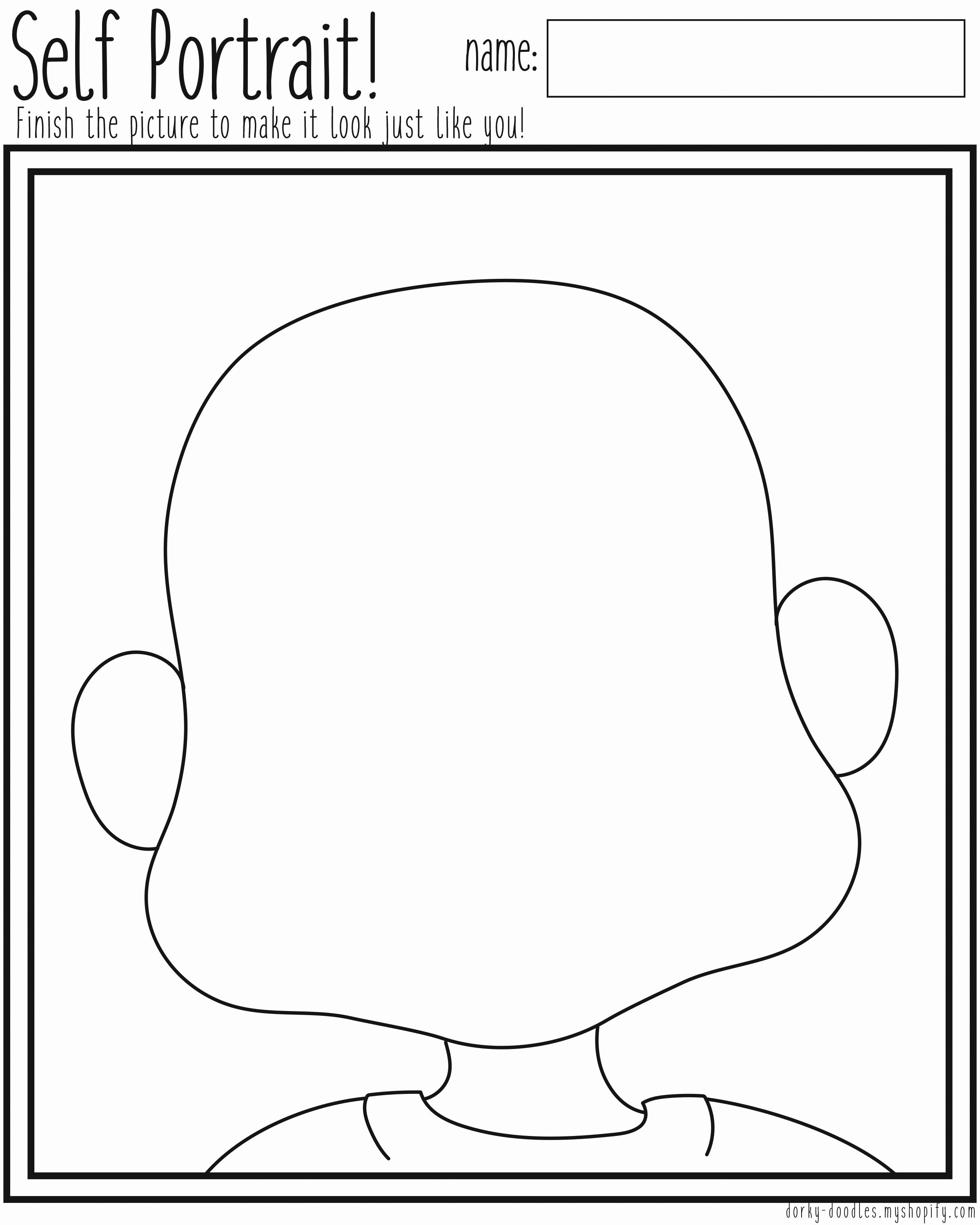 Self Portrait Worksheet Kidz Activities