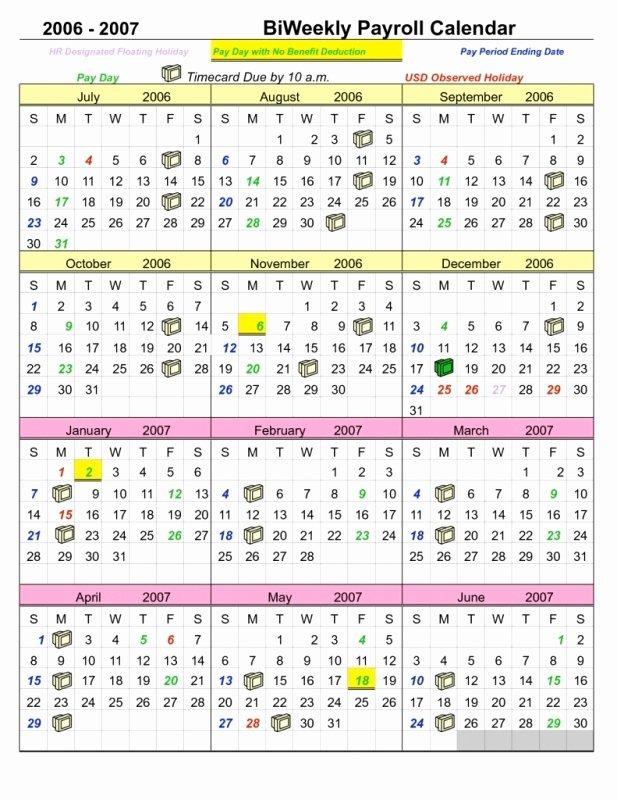 Semi Monthly Payroll Calendar Template Free Calendar