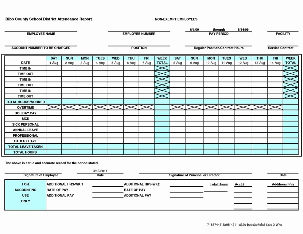 Semi Monthly Timesheet Template Excel Sampletemplatess