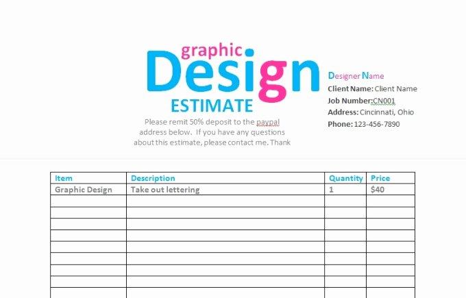 Send You A Graphic Design Contract Invoice Estima