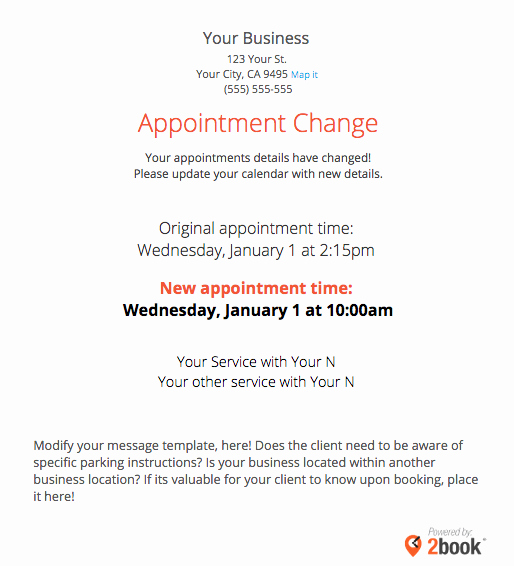 Sending Automated Appointment Emails to Clients – Massagebook