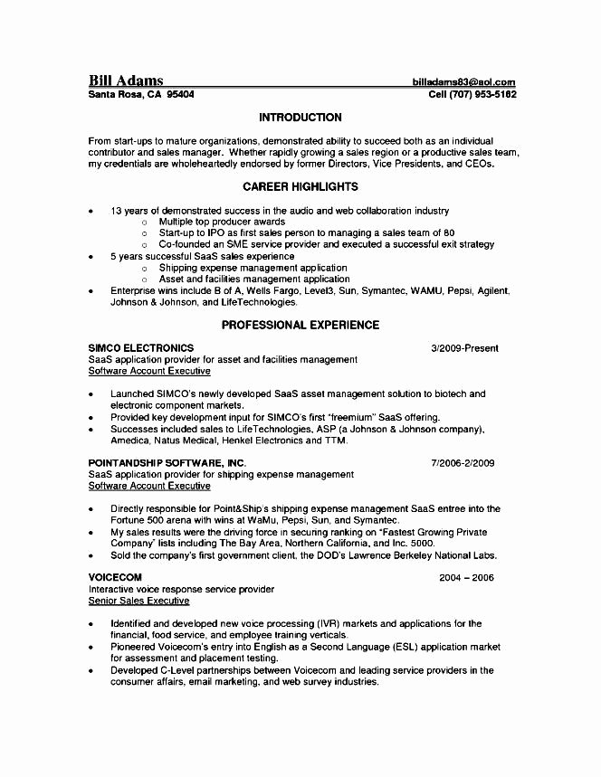 Senior Account Executive Resume Free Samples Examples