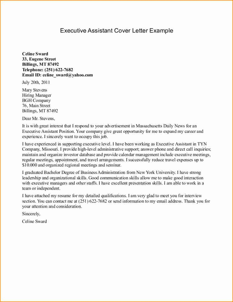 Senior Executive assistant Cover Letter 12 Cover Letter