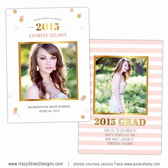 Senior Graduation Announcement Card Template for Graphers