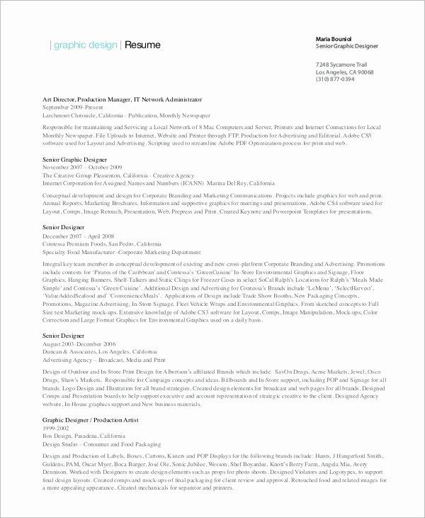 Senior Graphic Designer Resume Best Resume Gallery