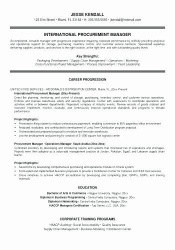Senior Procurement Specialist Cover Letter Resume