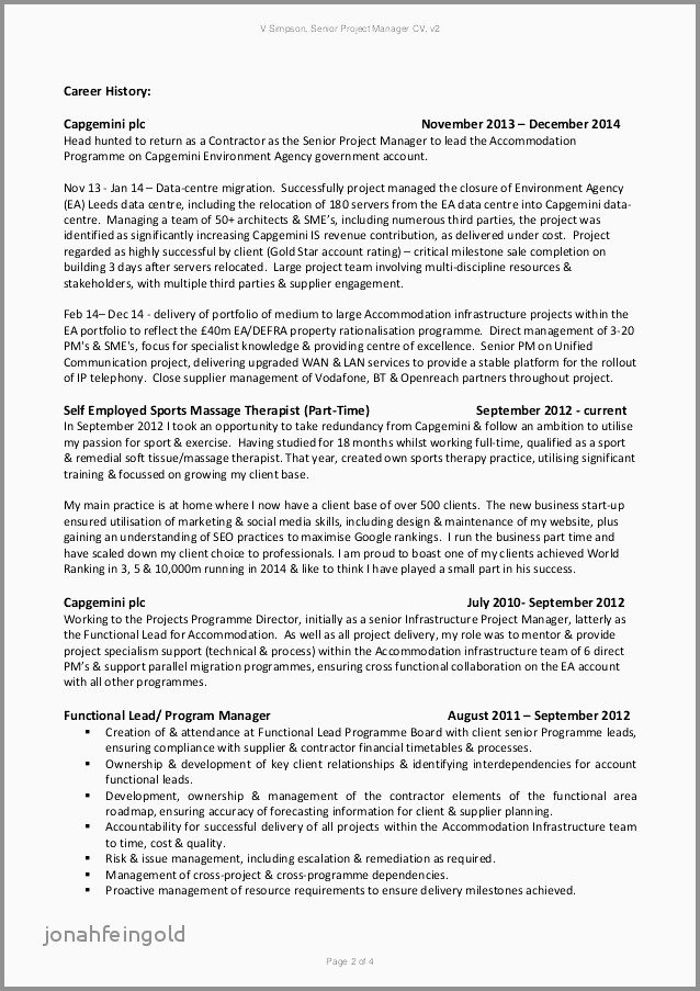 Senior Project Manager Resume Businessmobilecontracts