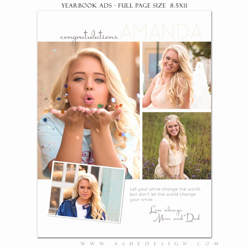 Senior Yearbook Ads Shop Templates Your Smile High