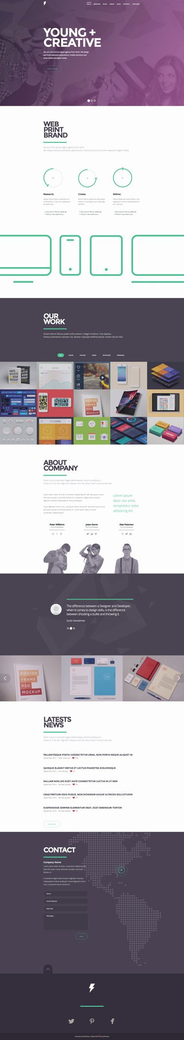 Sensa E Page Responsive Template by Darkstalkerr On