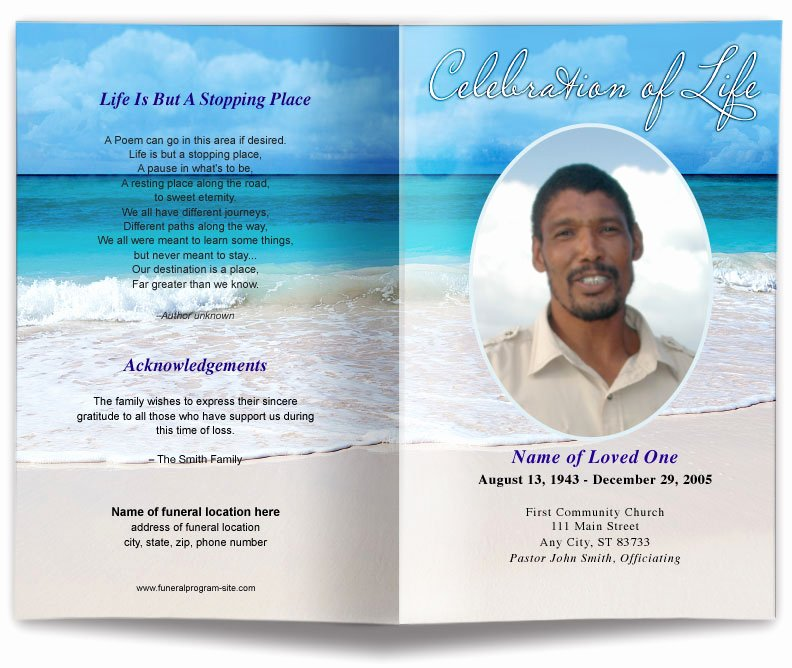 Sensational Design for Funeral Programs Carribean