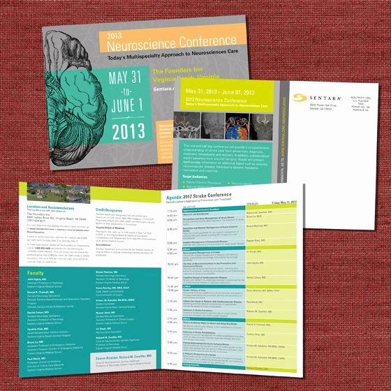 Sentara Neuroscience Conference Collateral