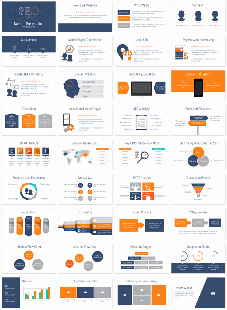 Seo Powerpoint Template Presentationdeck