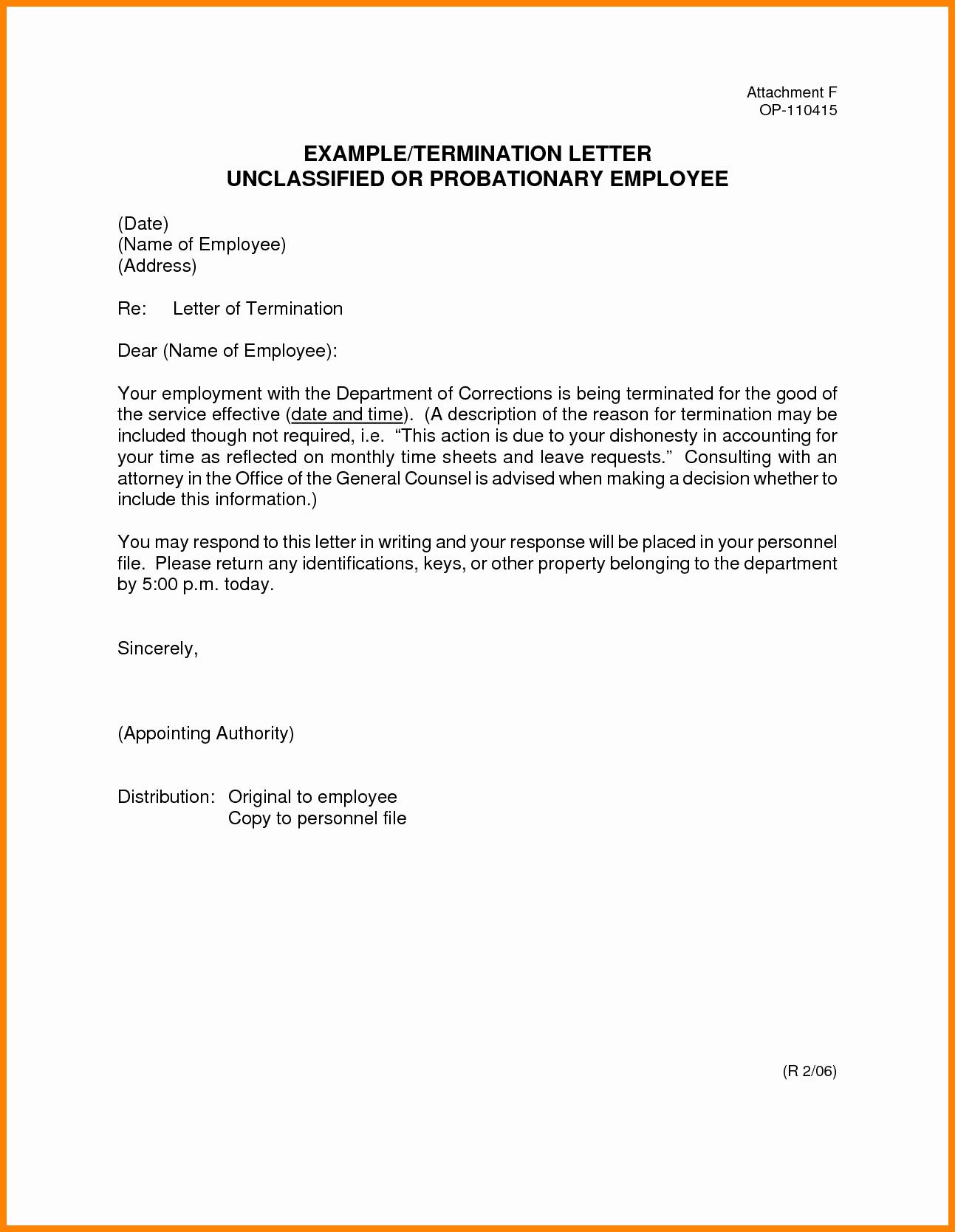 Separation Letter Template Portablegasgrillweber