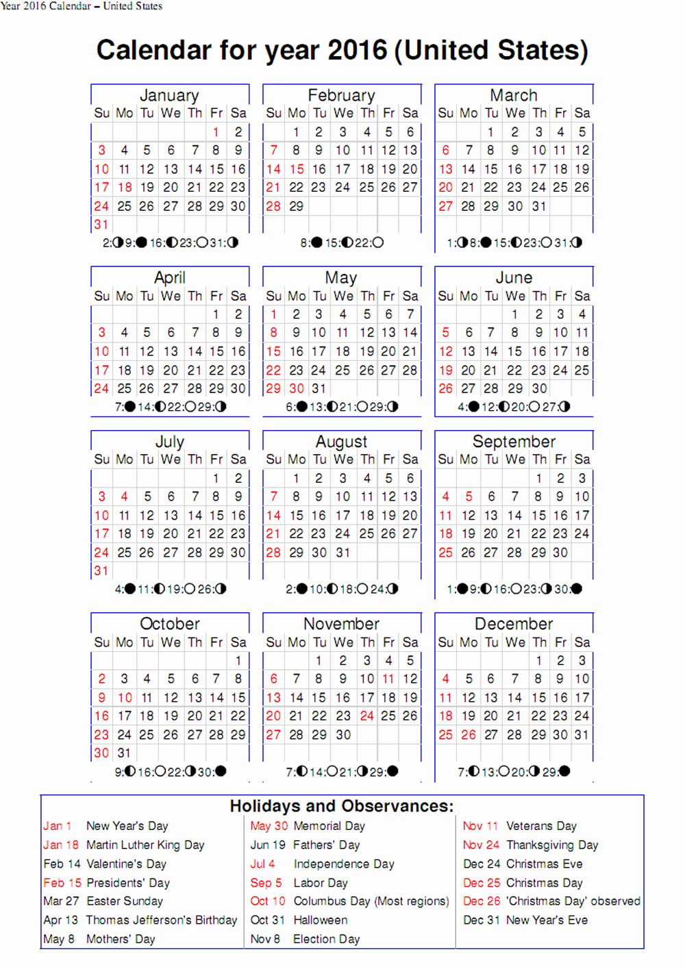 September 2016 Calendar Word – 2017 Printable Calendar