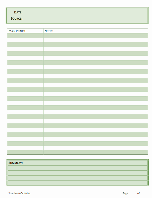 Sermon Notes Template – I M Listening to God