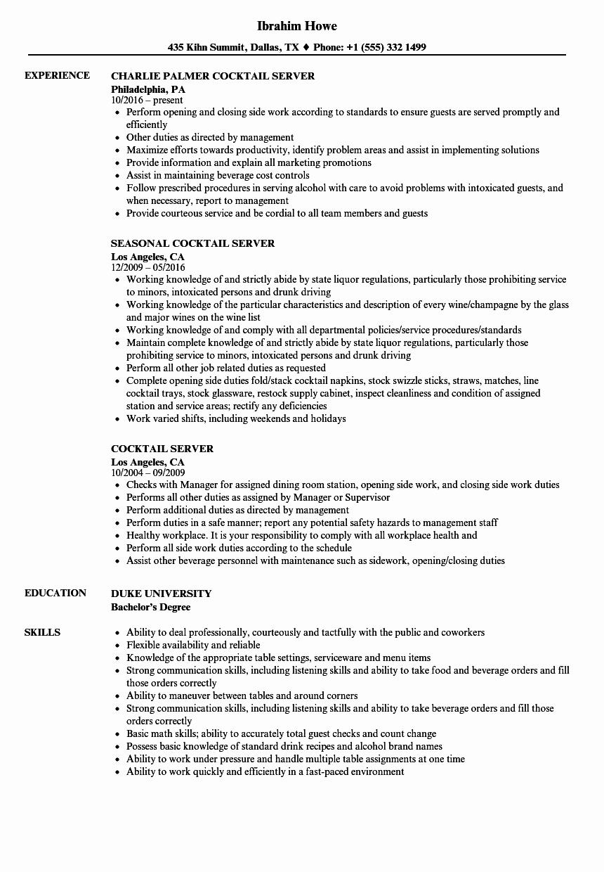 Server Resume Gallery Download Cv Letter and format
