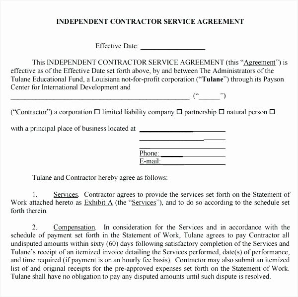Service Agreement Template Sample 6 Free Documents