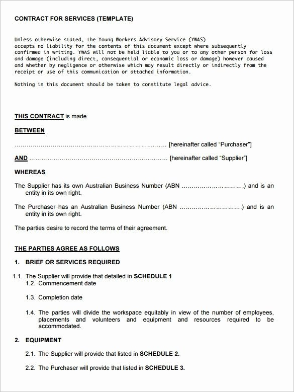Service Contract Template 8 Free Word Pdf Documents