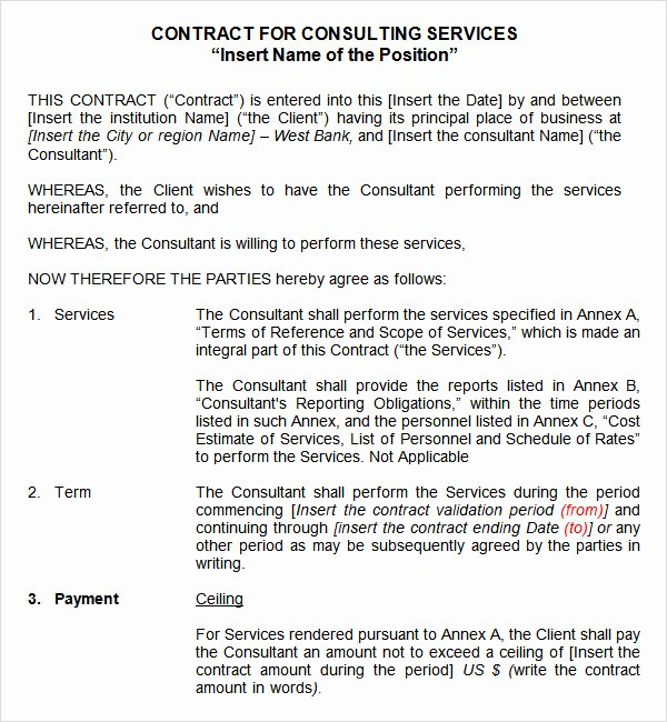 Service Contract Template 9 Free Pdf Doc Download