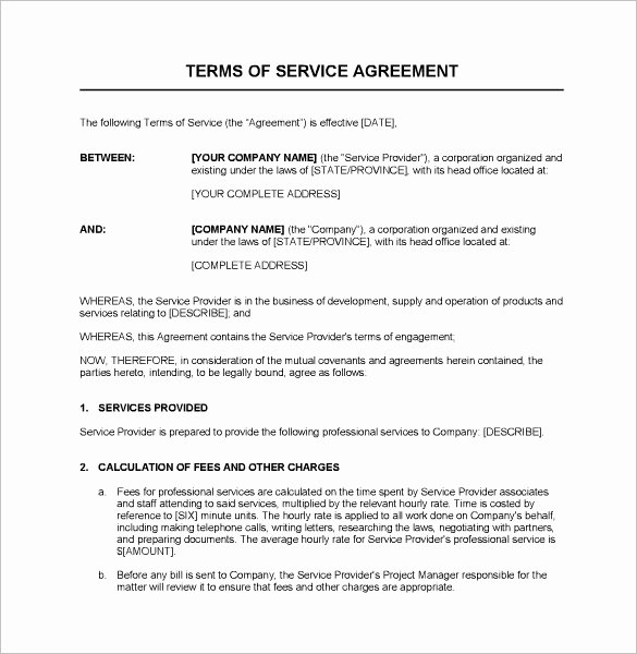 Service Contract Templates – 14 Free Word Pdf Documents