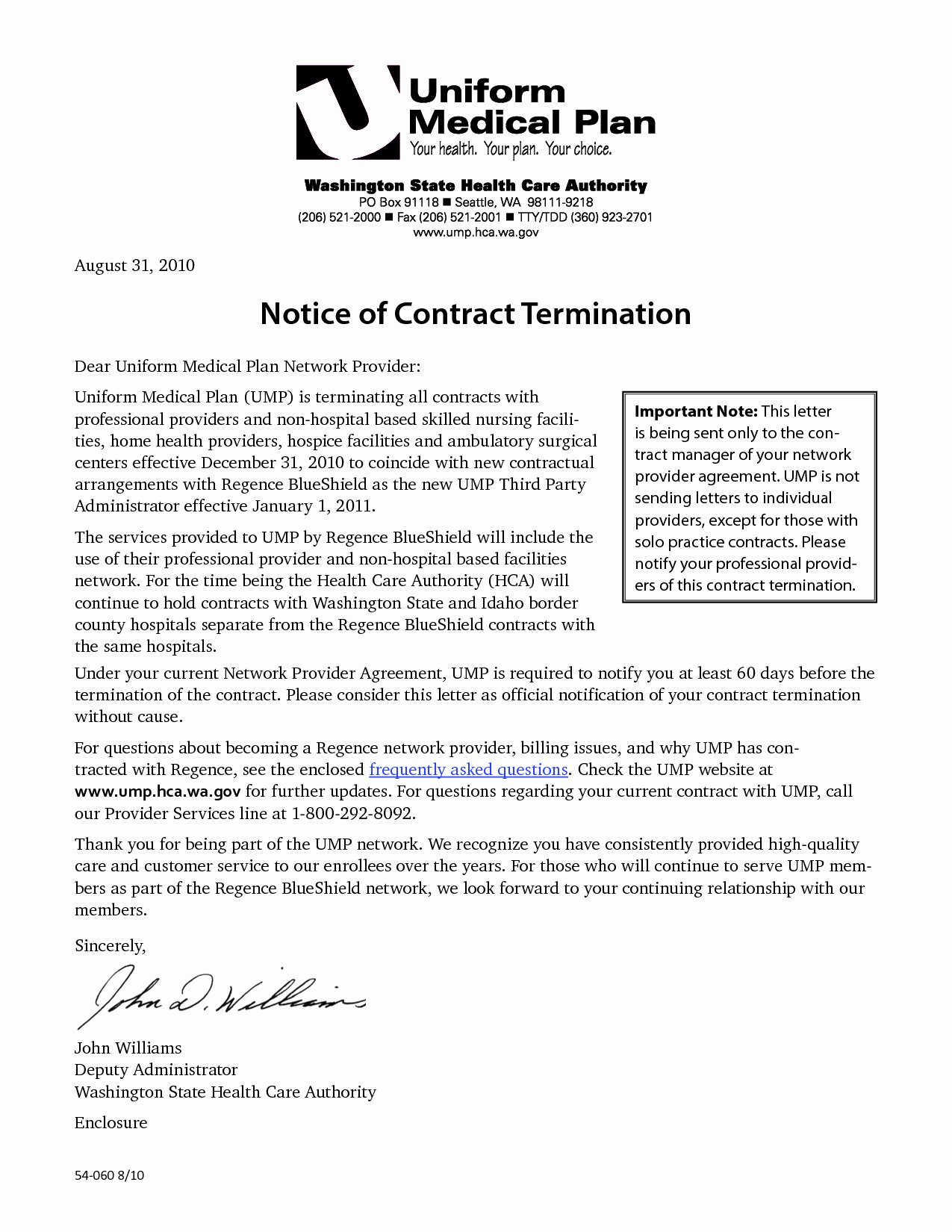 Service Contract Termination Letter Template Samples