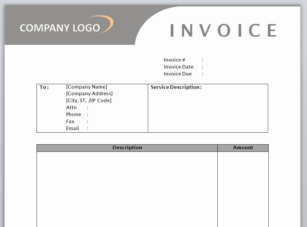 Service Invoice Template Free Microsoft Word Templates