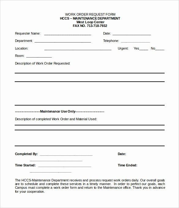 Service Request form Template Invitation Template