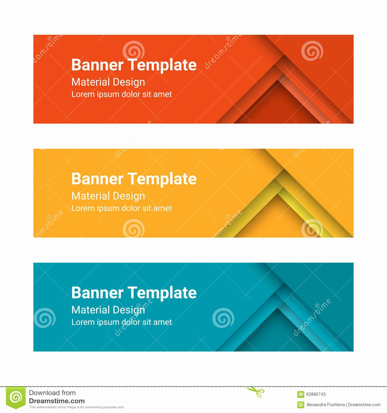 stock illustration set modern colorful horizontal vector banners material design style can be used as business template web design image