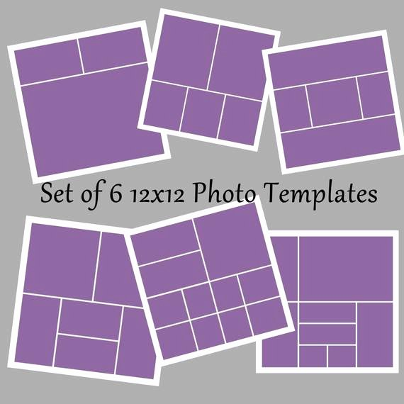 Set Of 6 12x12 Template Collage Story Board Layered Psd