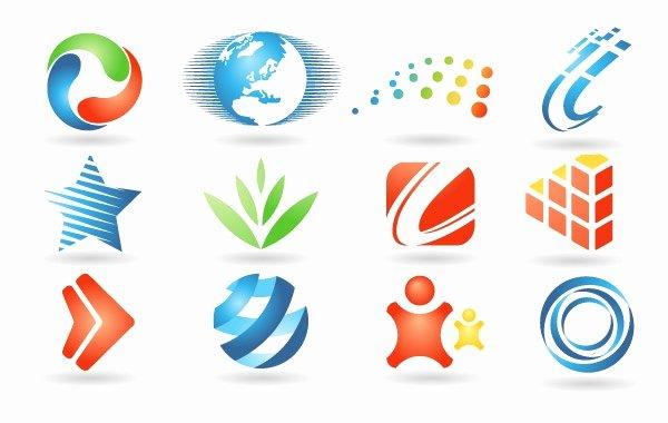 Set Of Logo Design Elements Free Vector Logo Template