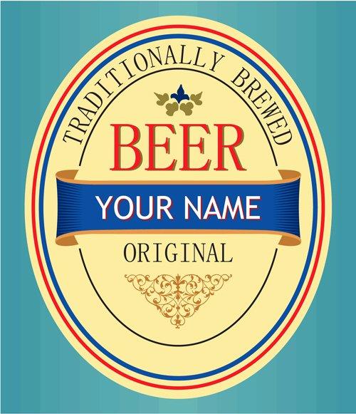 Set Of Vivid Beer Label Vector 05 Vector Label Free