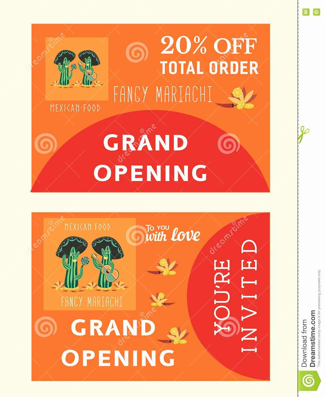 stock illustration set templates mexican restaurant grand opening afvertising bonus flyer invitation card vector illustration image