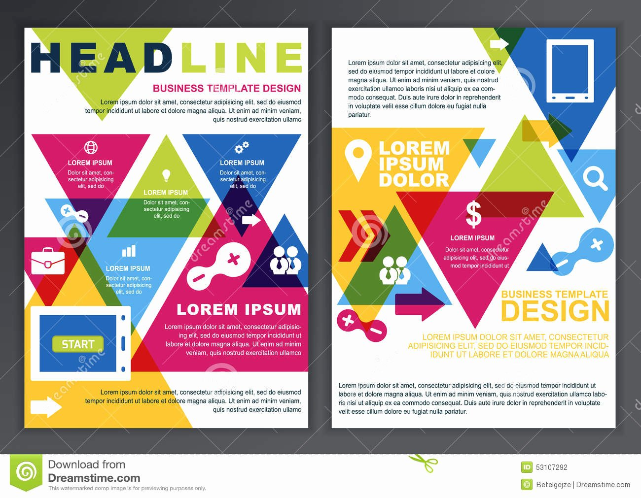 Set Vector Design Template for Business Brochure