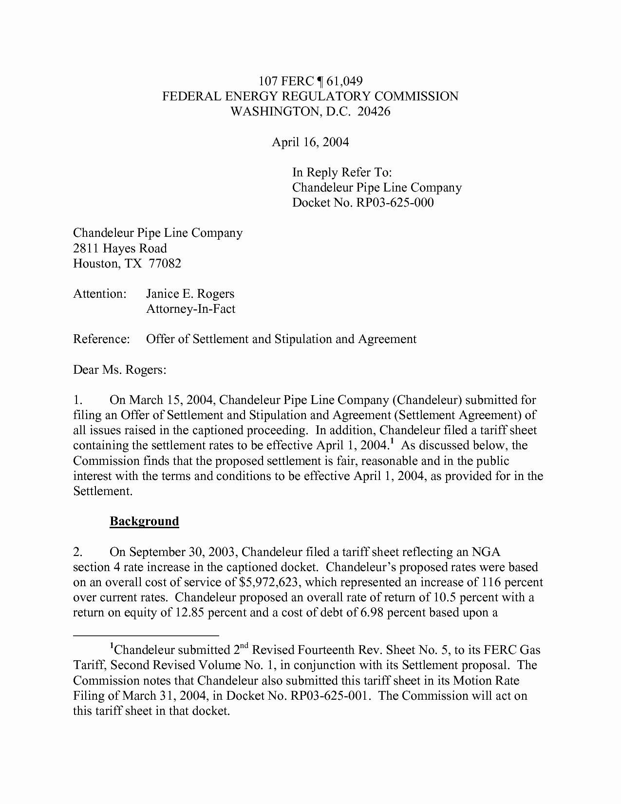 Settlement Proposal Template