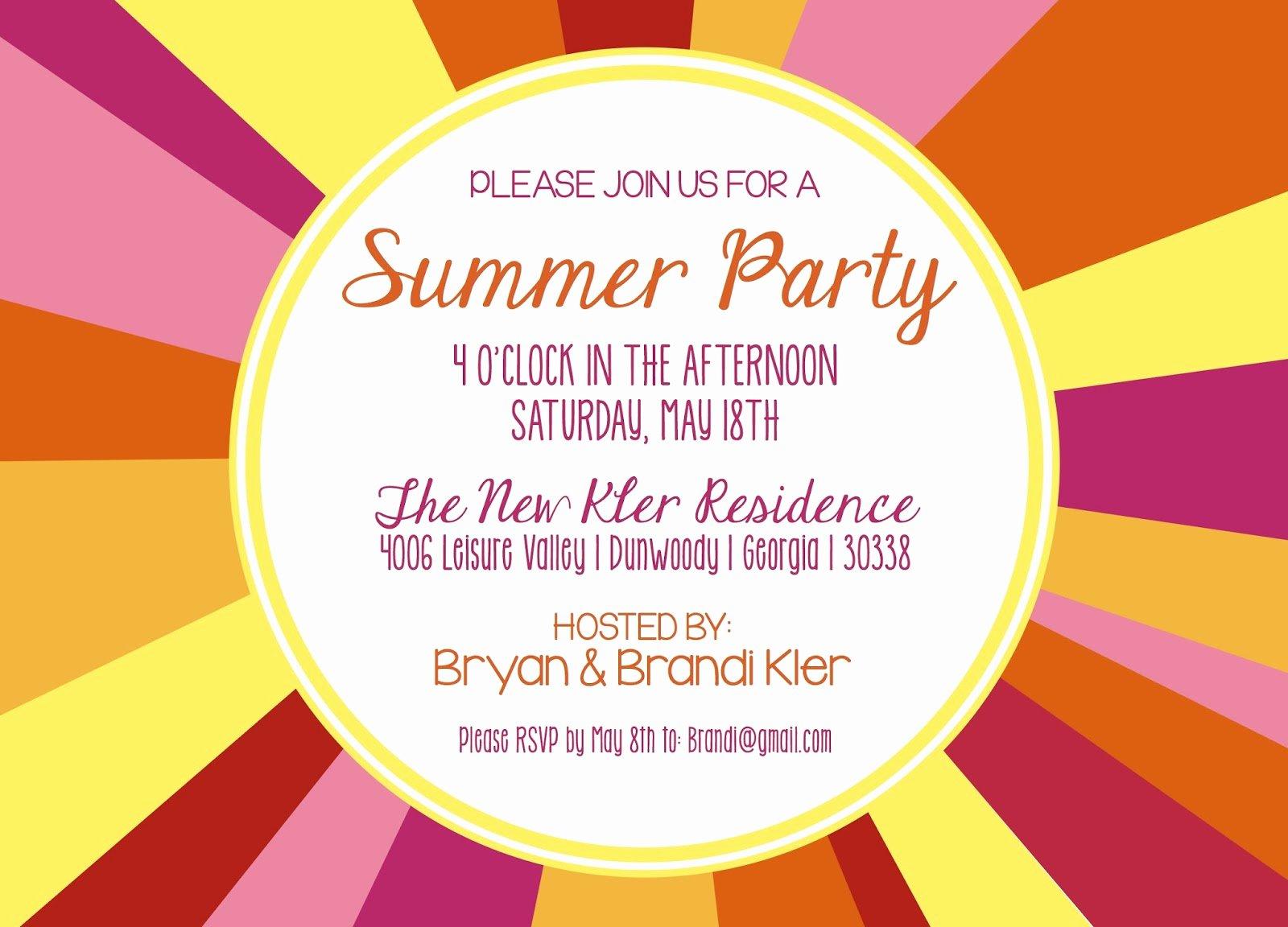 Shilo Lynn Prints Kler Summer Party Invitation