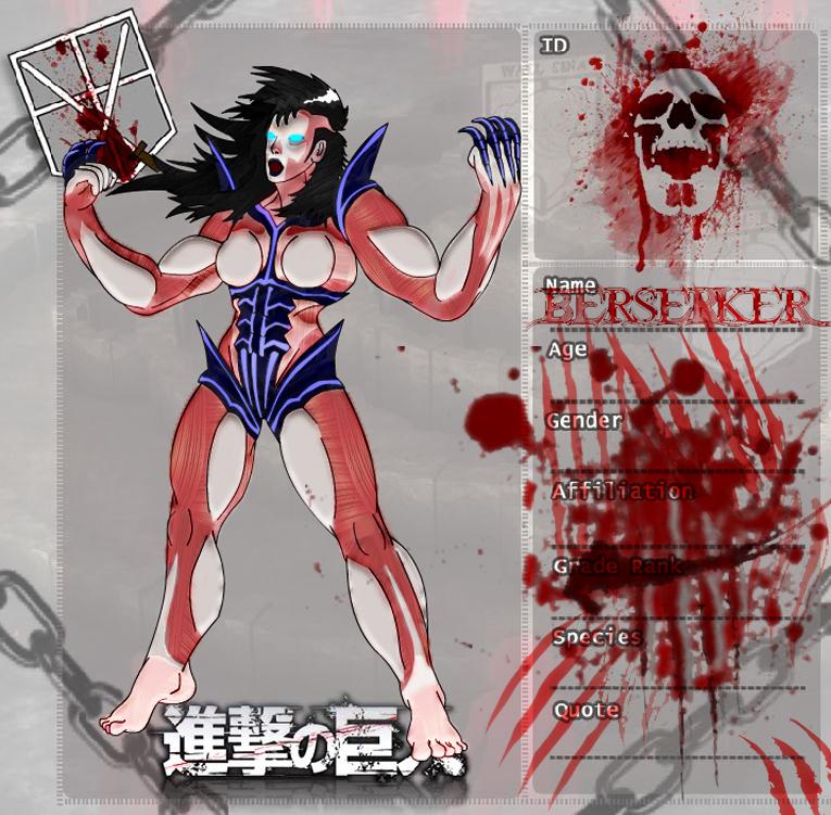 Shingeki No Kyojin Oc Berserker Titan by
