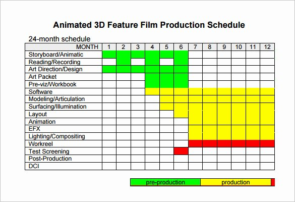 Shooting Schedule Template 11 Free Word Excel