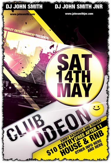 Shop Club Flyer Template