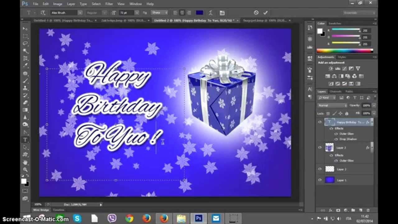 Shop Create Happy Birthday Greetings Card