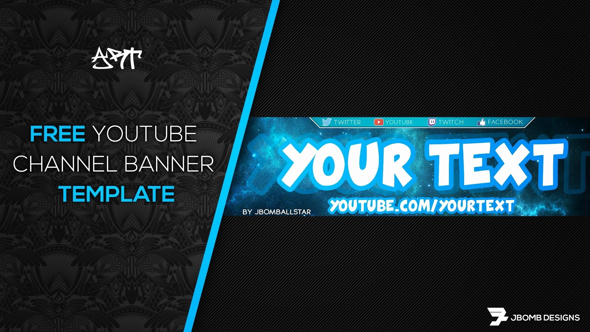 Shop] Free Hd Youtube Channel Banner Template