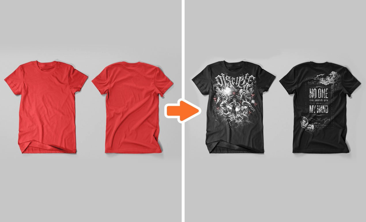 Shop Men S T Shirt Flat Templates Pack